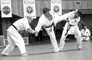 Мастер хапкидо может «разобраться» с несколькими соперниками.