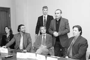 Рабочая встреча Д.А. Северинова с солистами итальянской оперы.