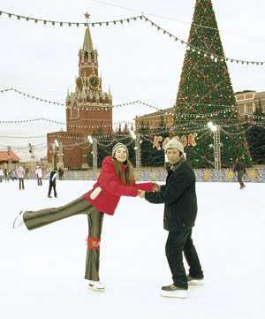 Заезд на фоне Кремля.